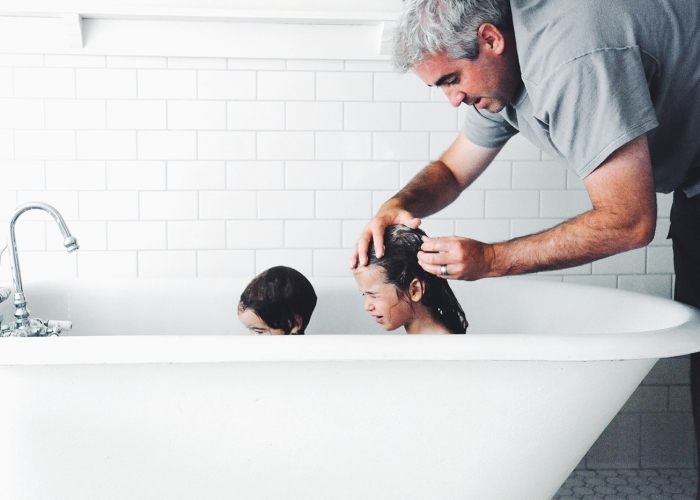 Tub Time With Dad by Catherine Aldrich