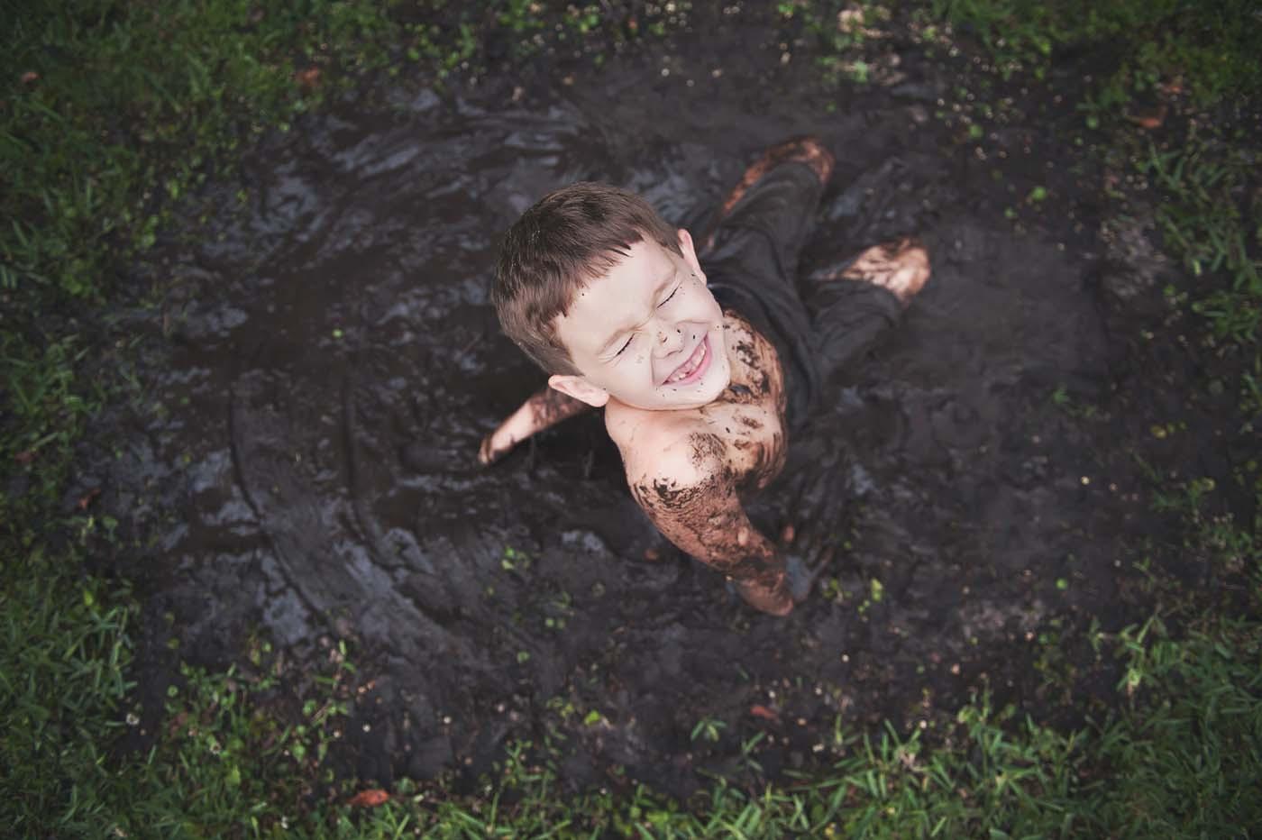 Backyard Mud Bath by Amanda Burr