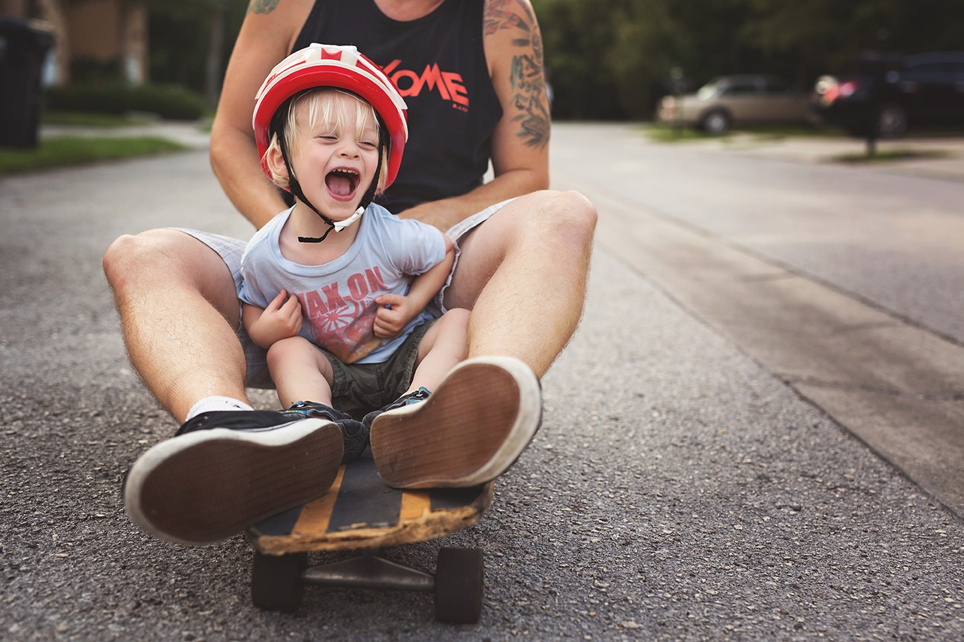 Skateboarding with Daddy by Jennifer Kielich
