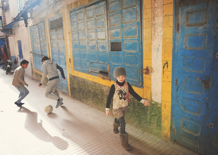 Alleyway Games, Morocco by Kirsty Larmour