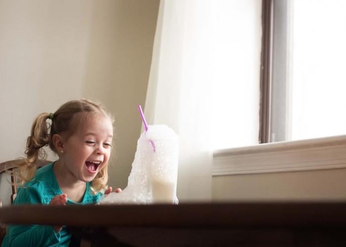 Milk Bubbles by Terri Collins