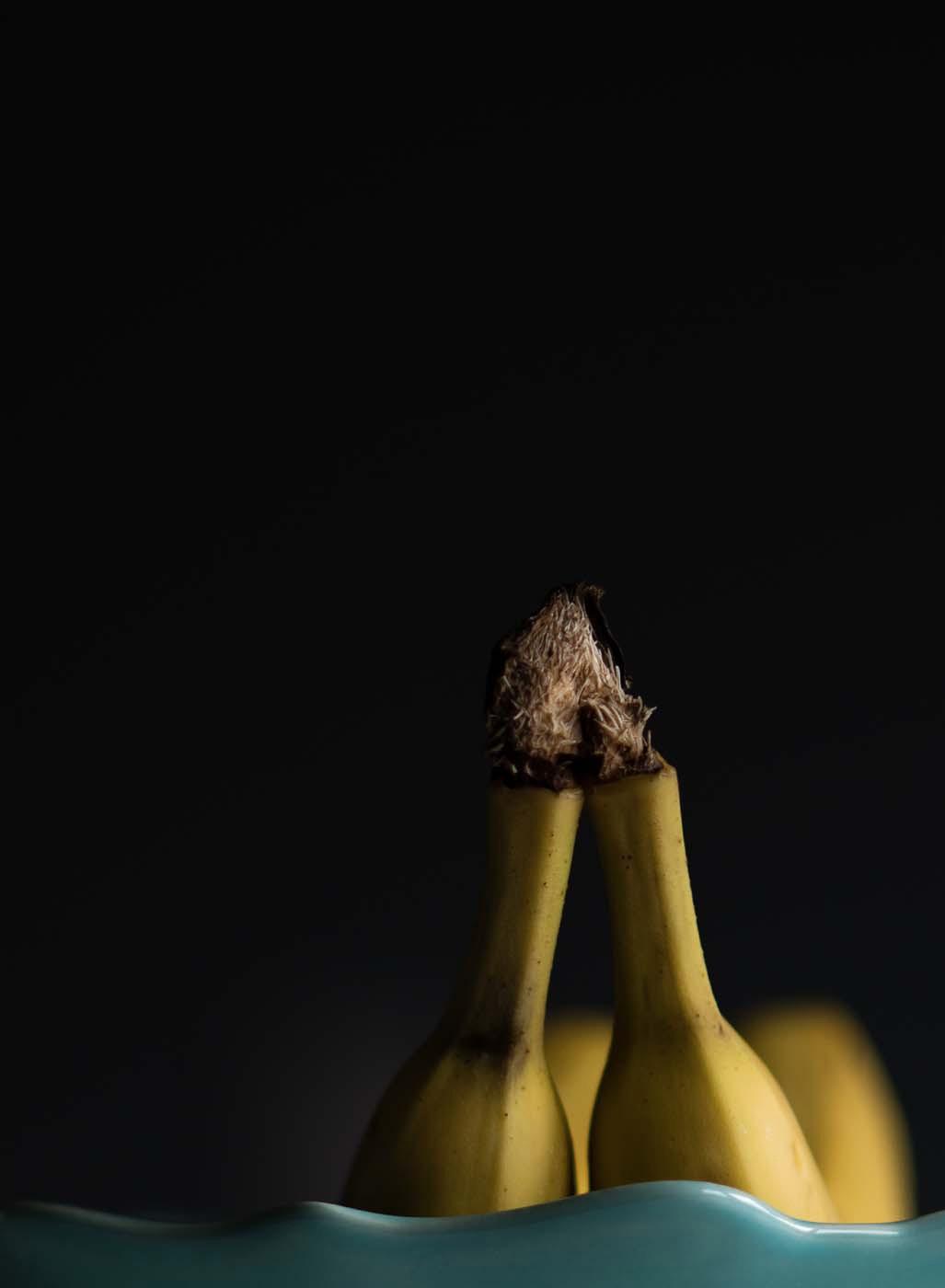 Bananas in Low Light by Jana O'Flaherty