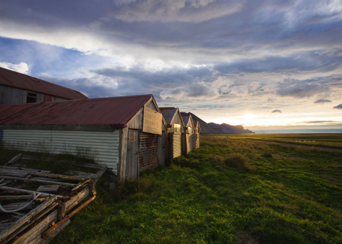 'Sunrise on a Farm, Jokulsa I Loni Delta' by Jamie Campfield Bates