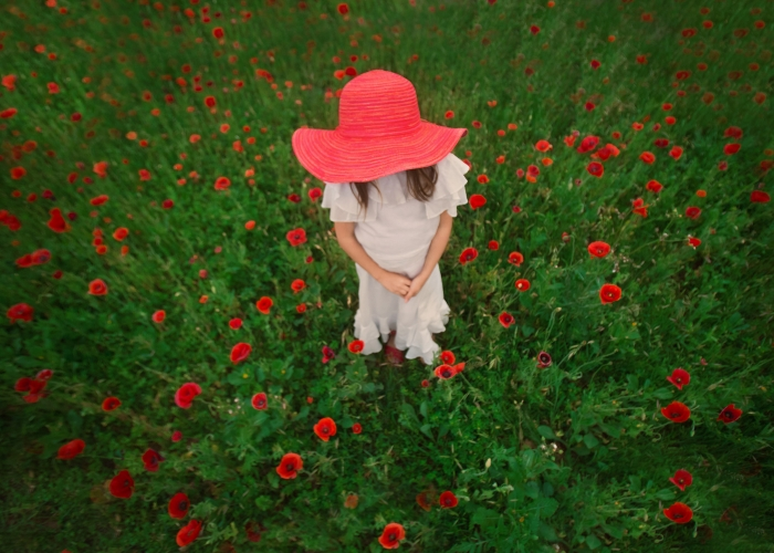 'Little Lady in Red' by Sally Molhoek