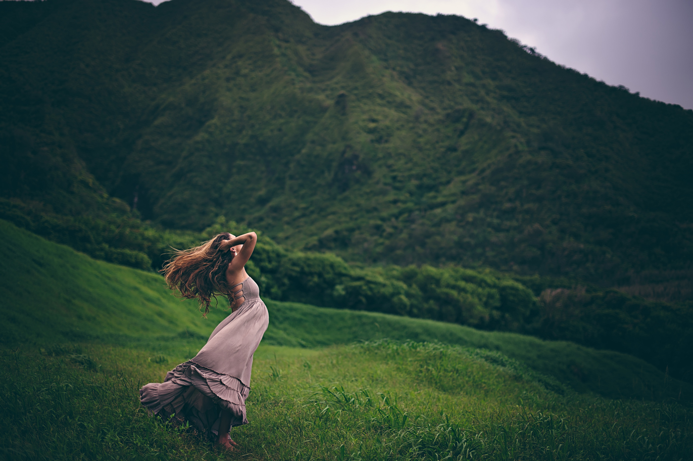 'Barefoot & Pregnant in the Muddy Mountains of Hawaii' by Stormy Solis