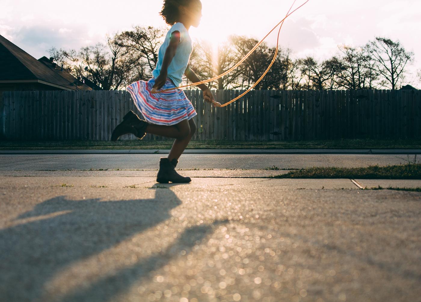 'Jump Rope at Sunset' by Tina Sherman