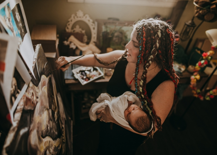 JensenL-ArtMotherhood-Womanhood
