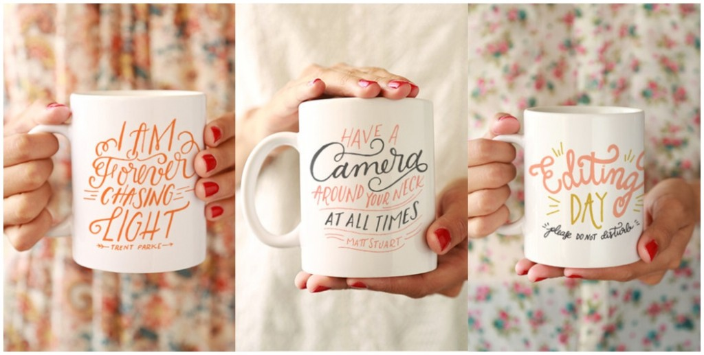 ideas for photography gifts, handwritten photography mugs