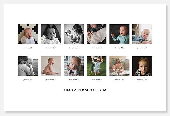 Mpix collage for baby milestones