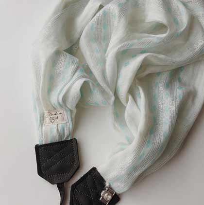 Studio Love scarf camera strap from Bebe K Studio
