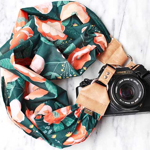 Scarf camera strap from MGstraps