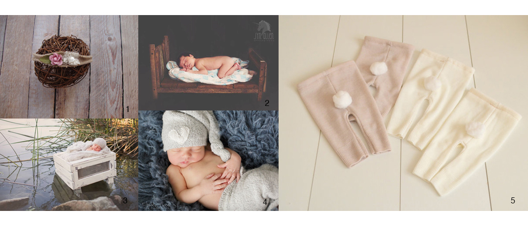 Newborn Image Session Prop Images