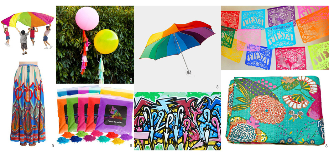 colorful photo props
