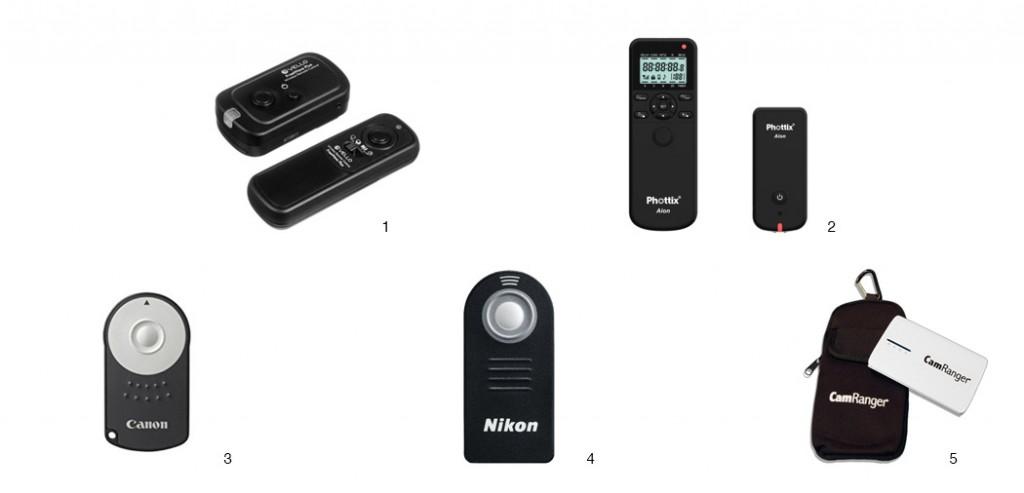 remote controls for cameras
