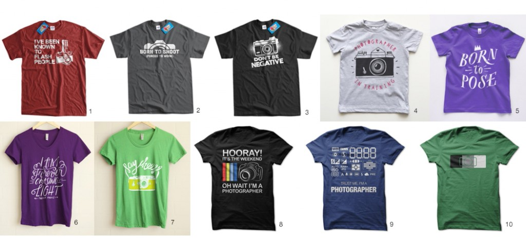 photography tees