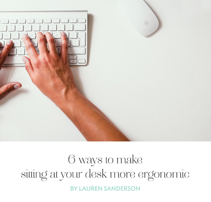 You may not realize you probably spend more hours sitting at your desk than you realize. Here are a few ways to make sitting at your desk more ergonomic.