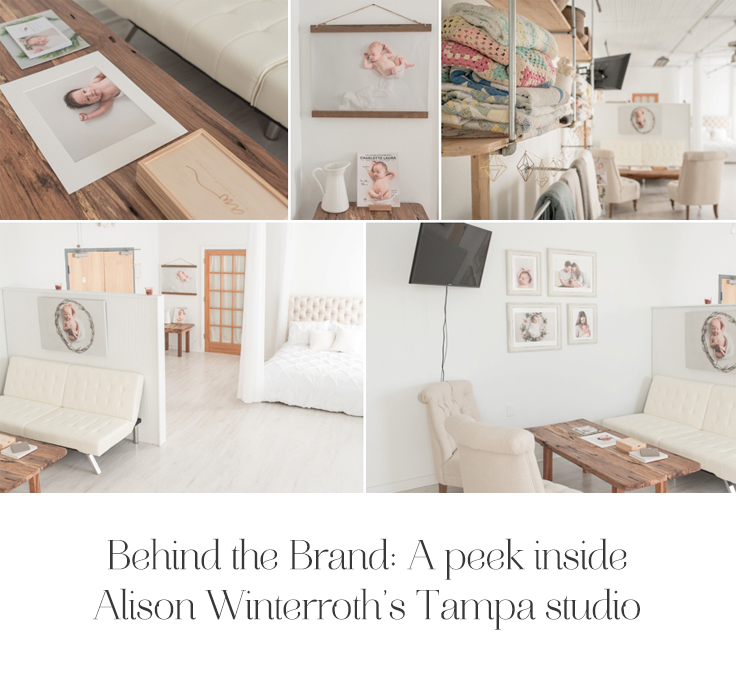 With a beautiful vision in mind, Alison Winterroth, created the most gorgeous photography studio space for her thriving business in Tampa, Florida.