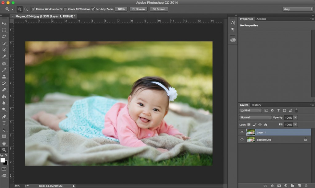 how to quickly make a duplicate layer in Photoshop by Shey Detterline