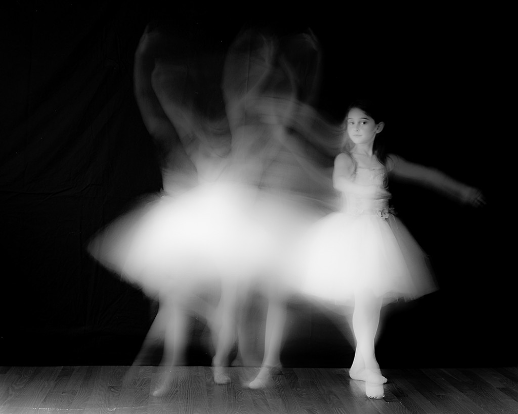 multiple exposure photo of girl doing ballet by Faye Sevel