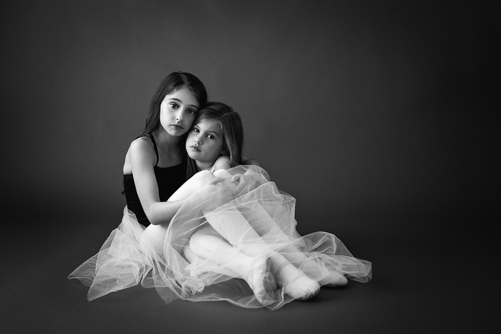 picture of two girls in their dance costumes by Faye Sevel