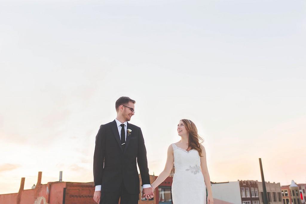 portrait of a bride and groom by Erin Schmidt