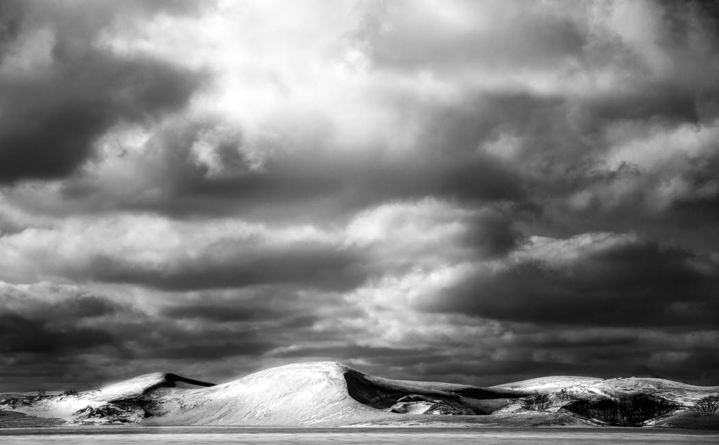 black and white landscape photograph by Jennifer Green