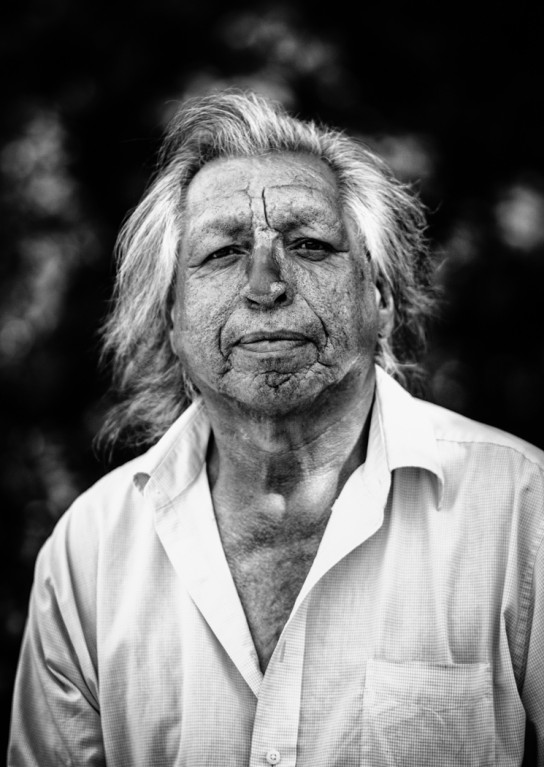 black and white portrait of older man by Jennifer Green