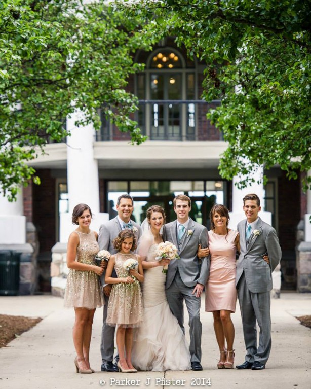 family portrait at a wedding by Parker J Pfister