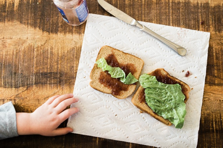 photo of jelly and lettuce on toast by Brianna Lehn