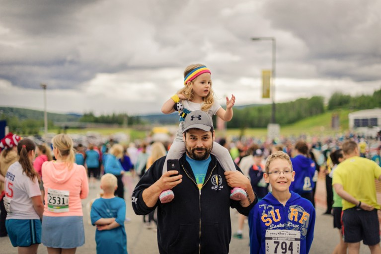 picture of family at a race by Charlaine Williams