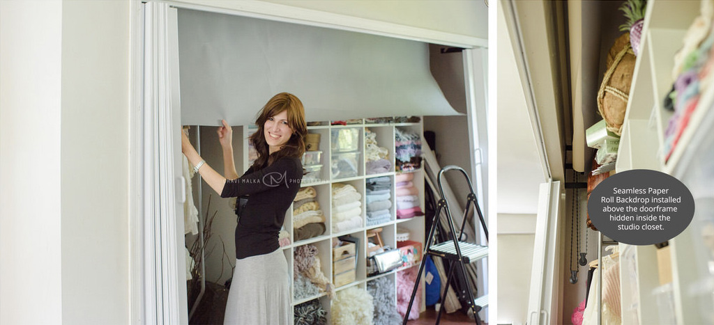 innovative way to hide a seamless backdrop in your home by Chavi Malka