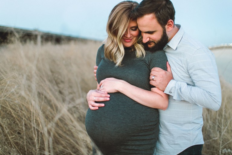 maternity photo with husband by Anita Martin