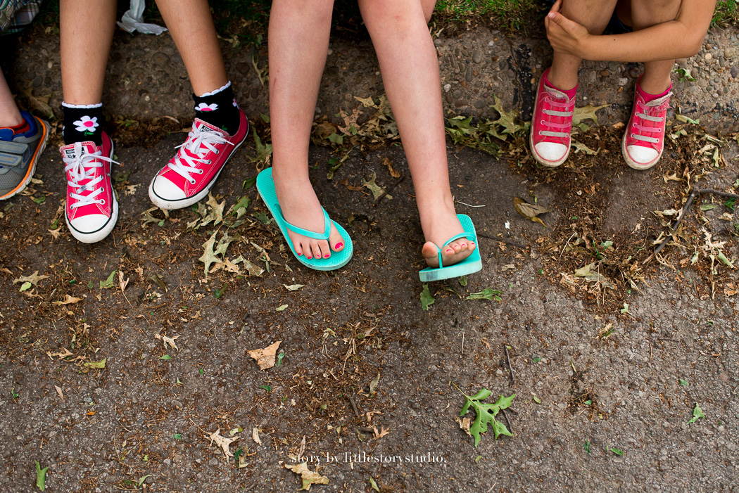 photo of kids feet by Andrea Moffatt