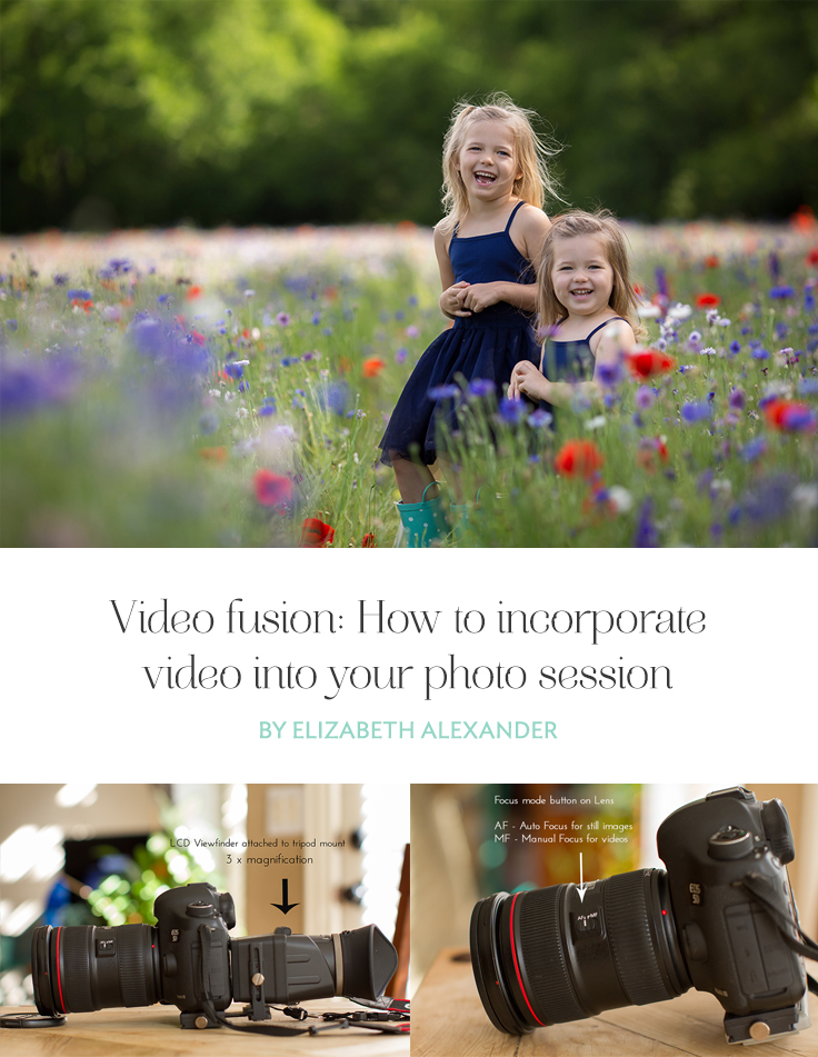 Video Fusion combines video with still photography and usually has the audio set to music. It gives your viewers a peek into a photography session with you.