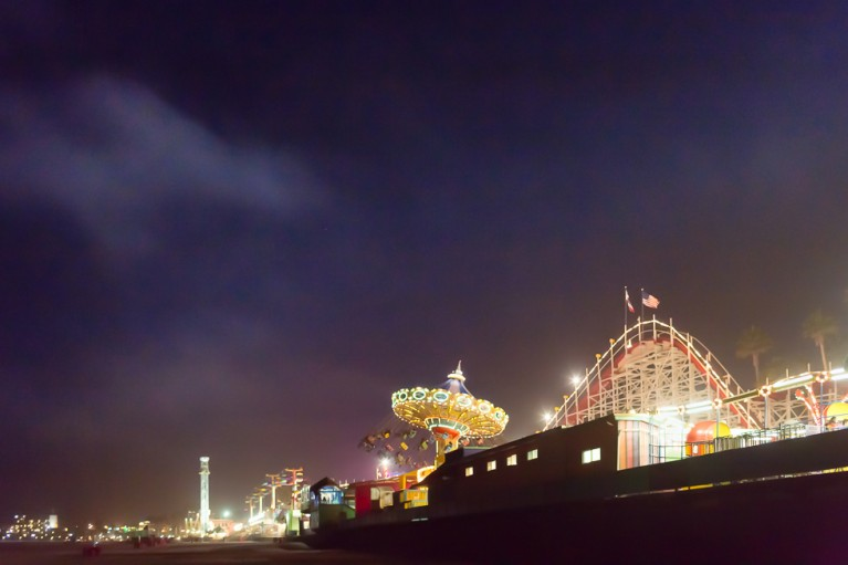 picture of rides on the beach by Nadeen Flynn