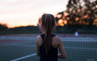 photo of girl playing tennis by Sarah Keene