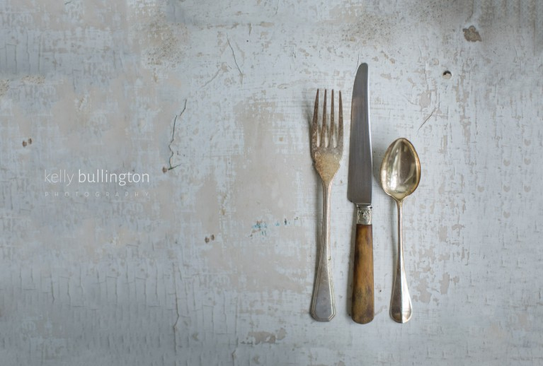picture of silverware on a table by Kelly Bullington