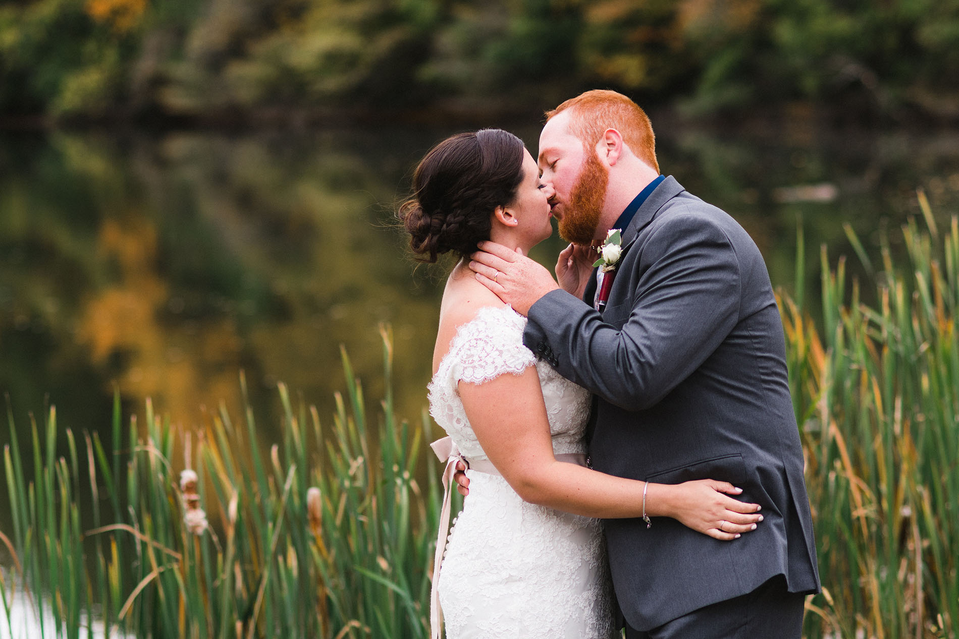 wedding photo outdoors by Jessica Svoboda