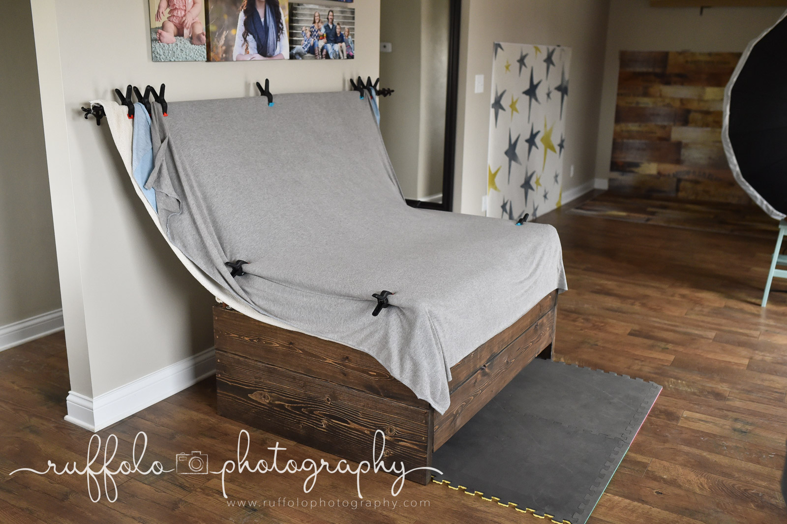 Diy bean bag stand for newborn pictures by netasha ruffolo