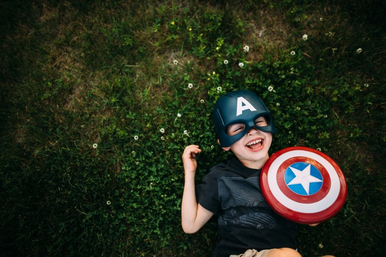 captain america in grass elise meader photography