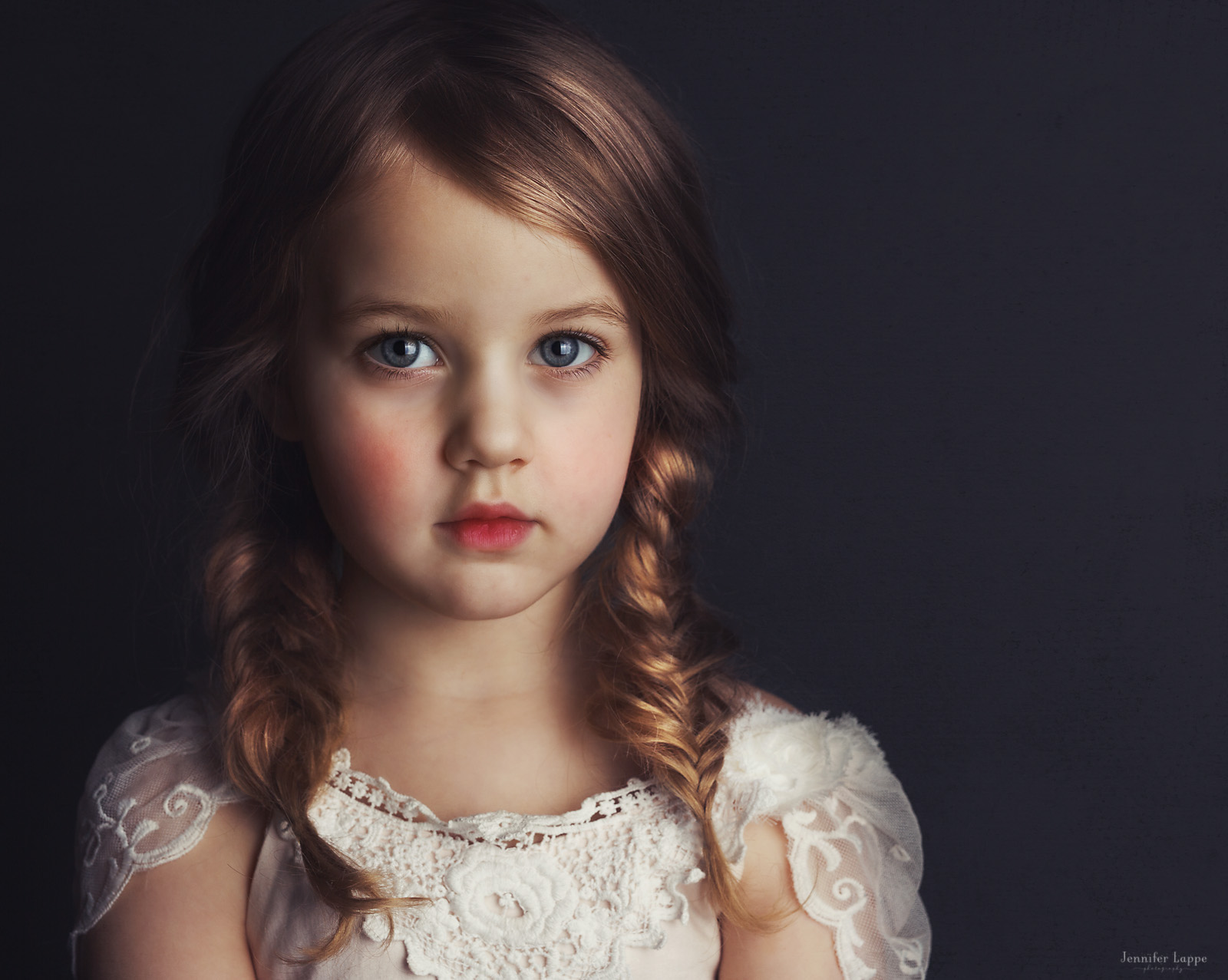 portrait of girl with studio light by Jennifer Lappe