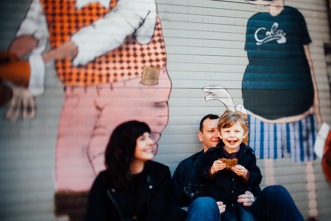 tilt shift family portrait by Juliette Fradin