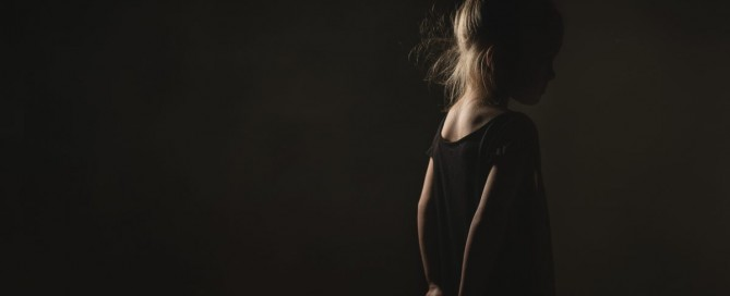 picture of girls back being lit by an Ice Light by Kate Luber