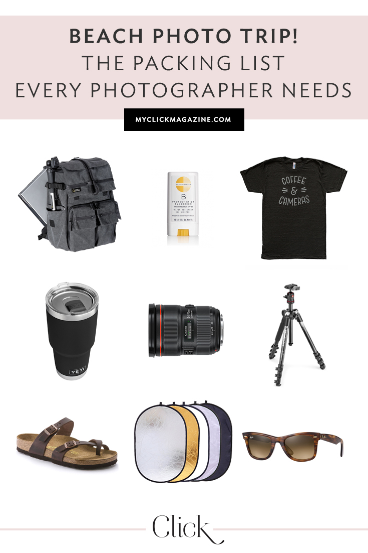 The packing list every photographer needs for their next beach photo trip! | Click Magazine!