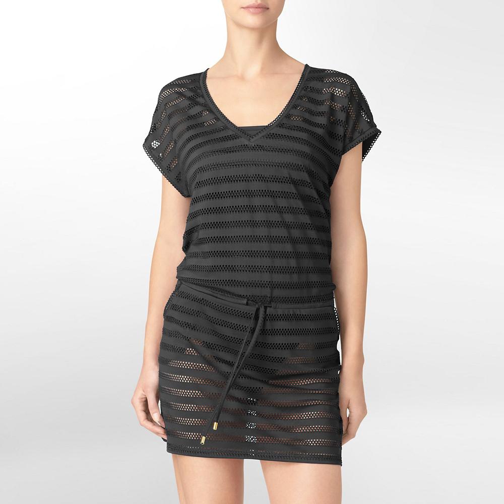 Calvin Klein mesh cover up