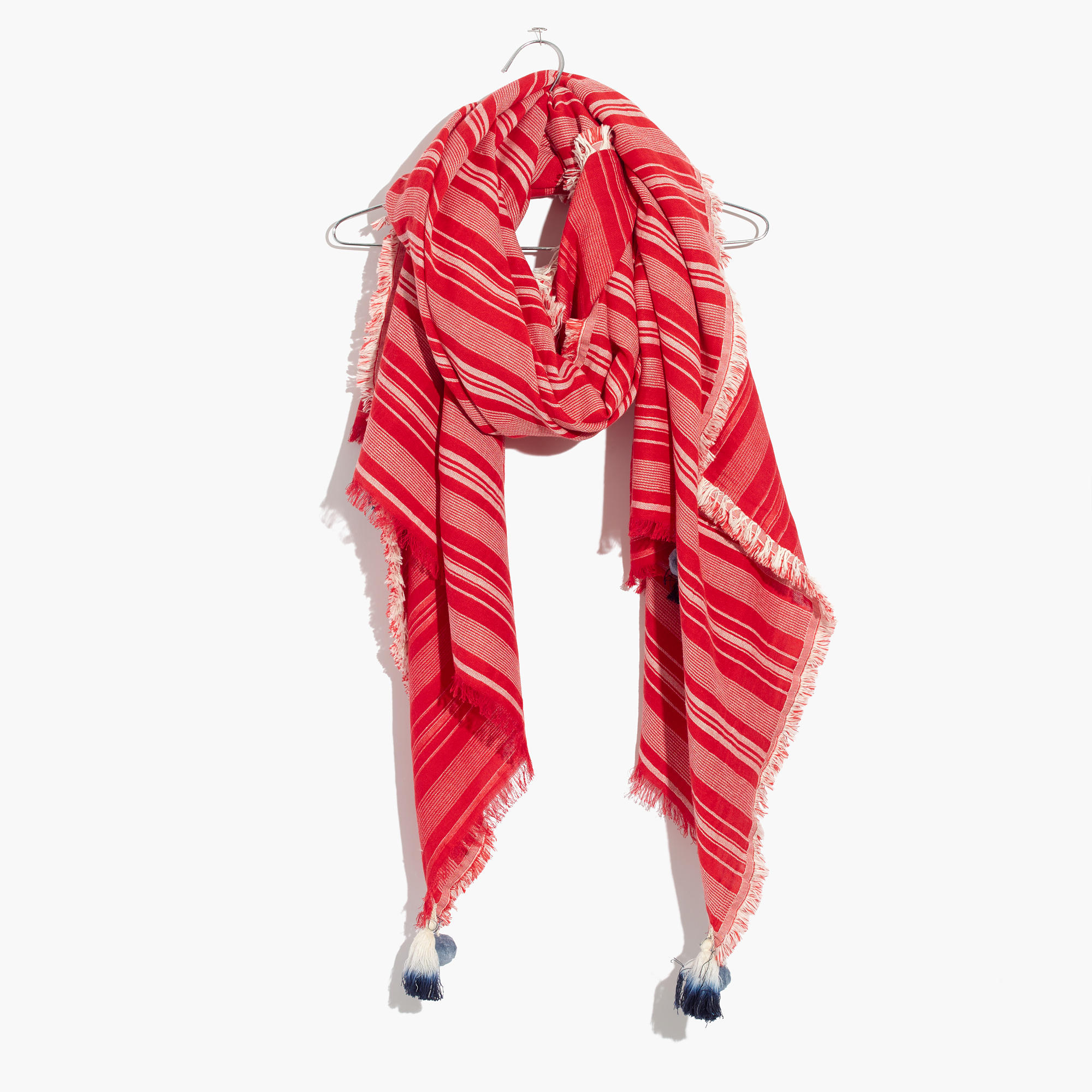 madewell striped convertible scarf