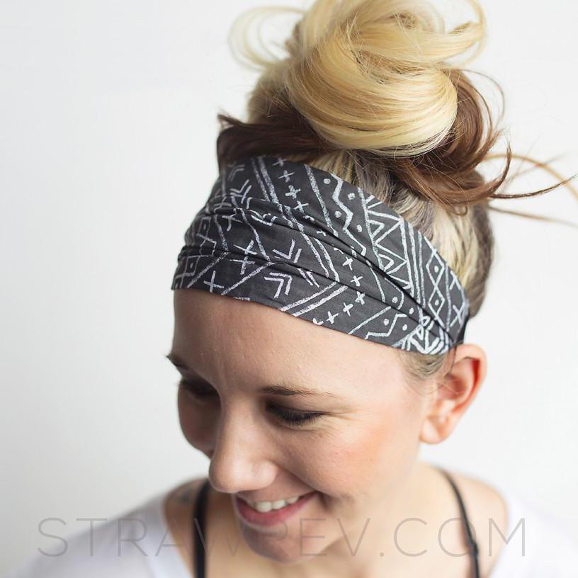 strawberry revolution tie-back headband
