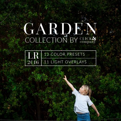Lightroom preset, garden collection