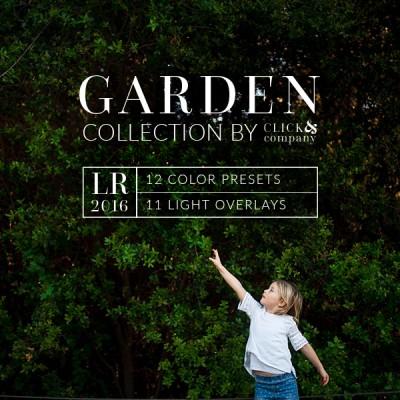 Lightroom preset, garden collection