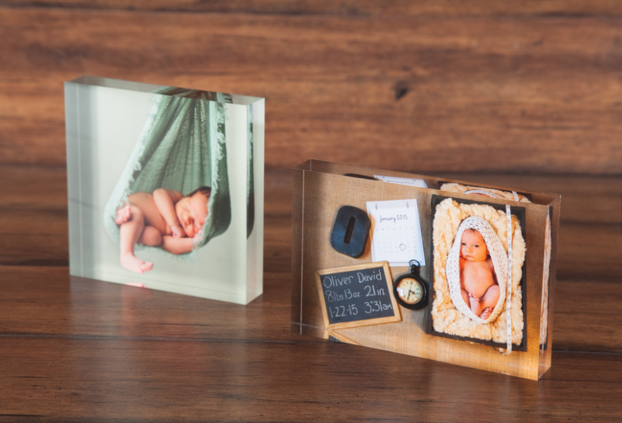 glass photo block, photo display